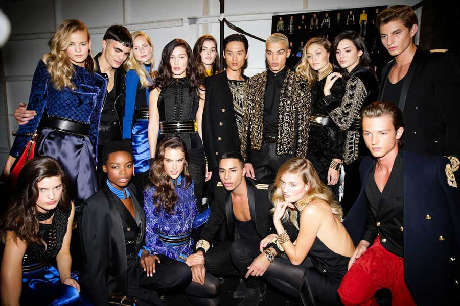 Balmain per H&M Launch event in NYC