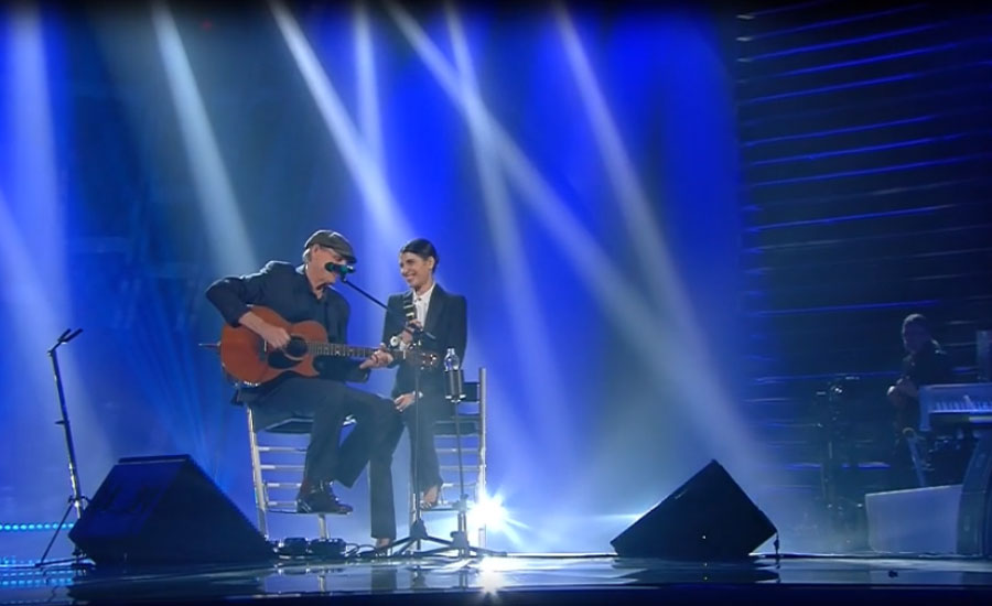 "James Taylor e Giorgia sulle note di ""You've got a friend"""