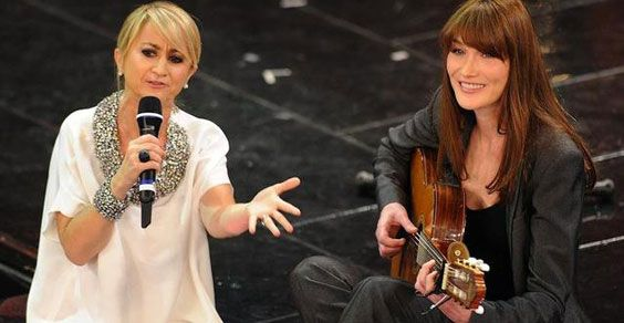 Littizzetto e Carla Bruni