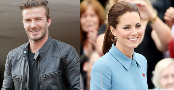 David Beckham e Kate Middleton