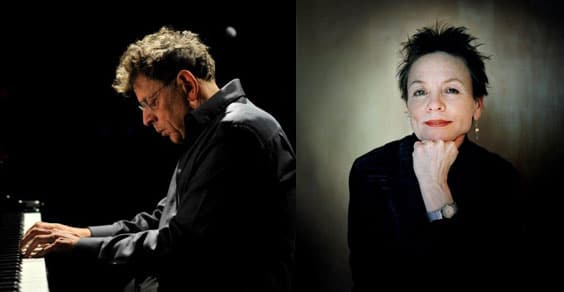 Laurie Anderson e Philip Glass