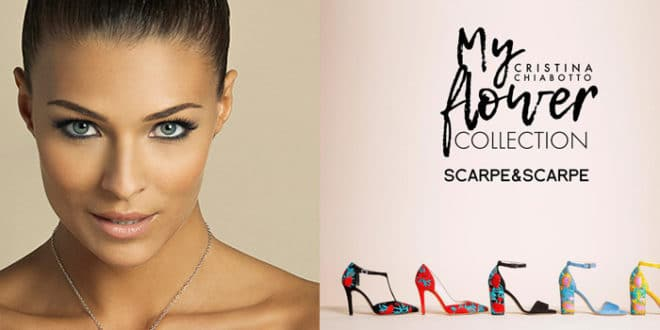"Cristina Chiabotto firma ""My Flower Collection"" capsule scarpe"