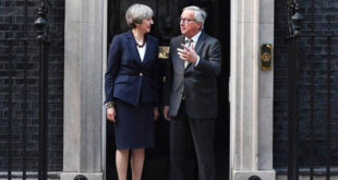 Jean-Claude Juncker Theresa May