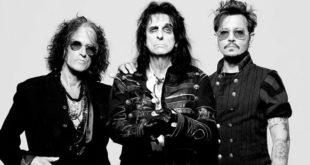 """Hollywood Vampires"" Johnny Depp Alice Cooper Joe Perry"