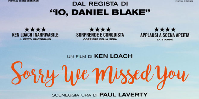 """Sorry we missed you"" un film di Ken Loach dal 2 Gennaio al cinema"