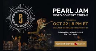 Pearl Jam lo storico concerto di Philadelphia in streaming