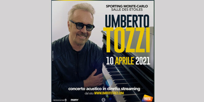 Umberto Tozzi concerto acustico in streaming